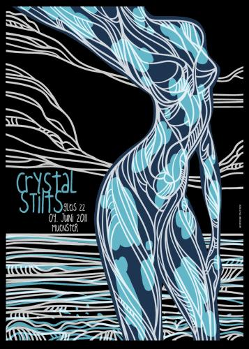 crystal stilts poster by fritte (skrash) - germany represents at the stick up (brighton)
