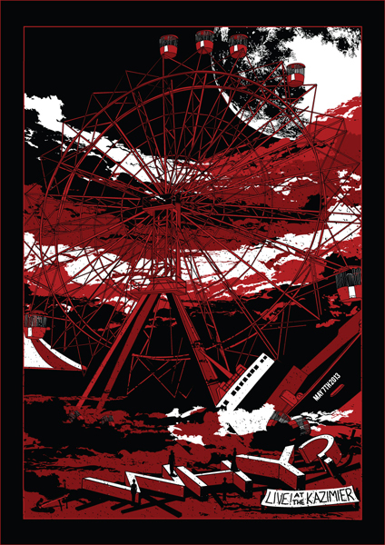 ferris wheel poster by Gary McGarvey (Horse) for WHY? playing in Liverpool