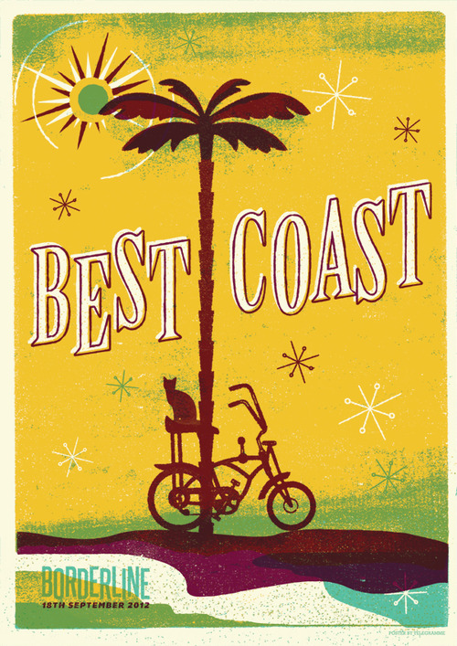 best coast screenprint, limited edition - the stick up brighton 2013
