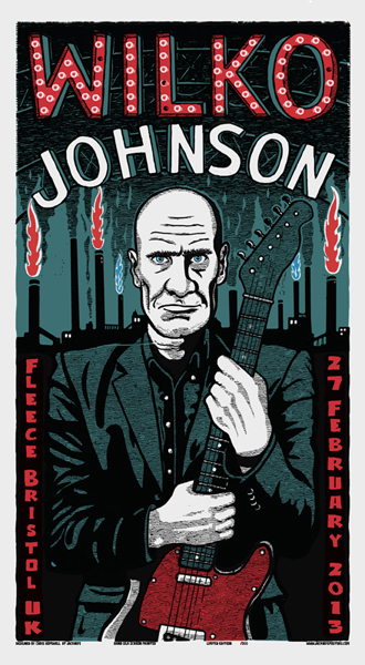 Chris Hopewell Jacknife : Wilko Johnson screenprint
