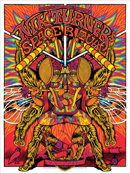 John Howard's psychedelic posters will be showing at the Stick Up poster show in Brighton - part of the great escape festival 2014