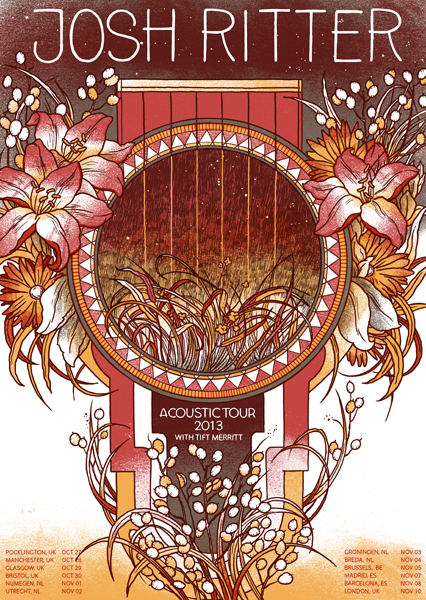 josh ritter show poster by drozd