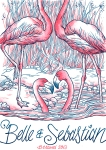 luke drozd's flamingo design for belle and sebastian - bestival