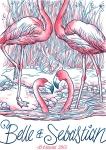 luke drozd's flamingo design for belle and sebastian - bestival