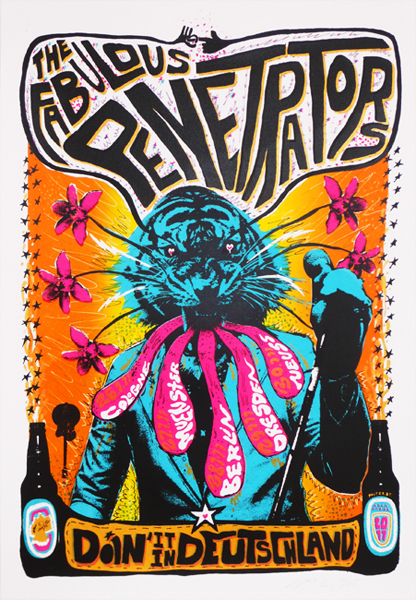 psychedelic gig-poster by Adam Pobiak