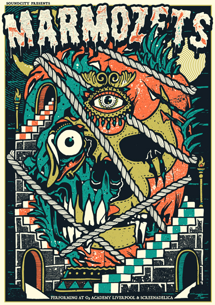 Marmozets poster by Craig robson (Daggers for teeth)