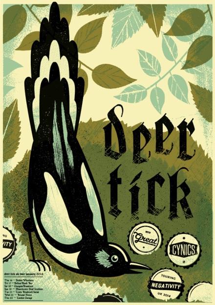 deer tick show-poster by telegramme studios