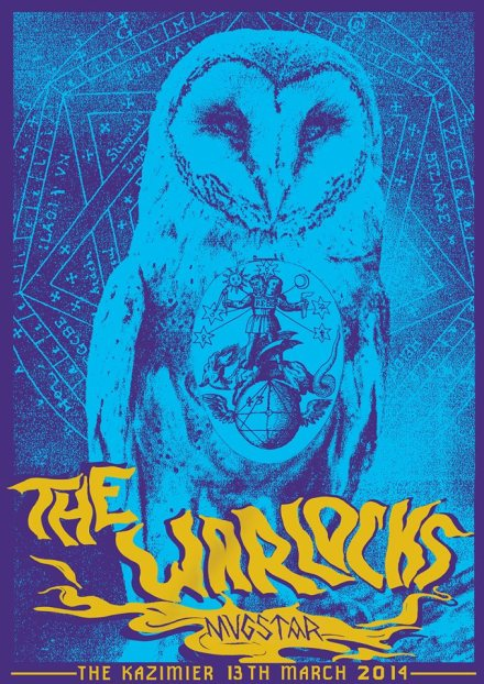 That Girl Johanna Wilson printed a poster by hand to commemorate a concert by The Warlocks