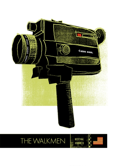 the walkmen band played at bestival in 203 and petting zoo prints & collectables screenprinted a poster for them